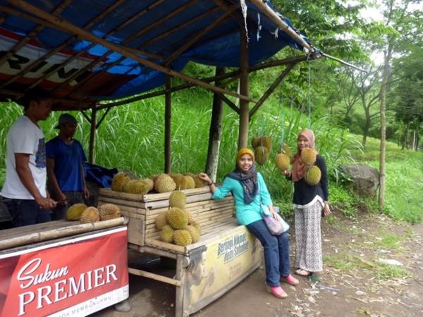 Makan Durian di Batu, Malang
